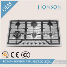 Stainless Steel 6 Burners Cast Iron Gas Hob Gas Cooker