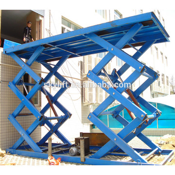 Elevador de carga de tijera hidráulico certificado CE