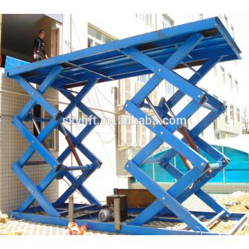 Ascenseur de chargement de ciseaux hydraulique certifié par la CE
