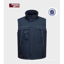 OEM Mens Multi Pocket Workwear Hombre de invierno chaleco acolchado 2017