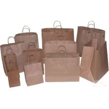 Recycled white kraft paper bag