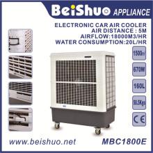 670W Industrie Ventilateur de refroidissement électrique Refroidisseur d'air 160L Capacité du réservoir d'eau Refroidisseur d'air évaporatif portable
