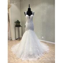 Robe de mariée en dentelle perlée sur mesure