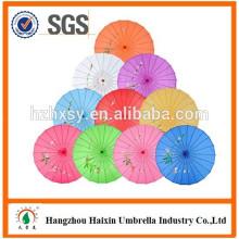 Mélangeant Style chinois artisanal manche en bois huile papier parapluie avec bambou poignée