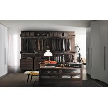 Moderne hochwertige schwarze Garderobe Schrank