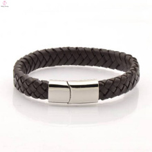 Wholesale Leather Making Magnet Clasp Bracelet For Men