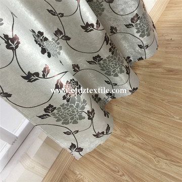 Silver Blackout Jacquard Curtain Fabric
