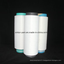 100% Polyester DTY Fantaisable pour le tricot à la main, le tissage