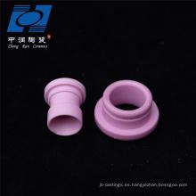 Guía de piezas cerámicas de alta resistencia al desgaste para maquinaria textil.