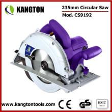 Sierra circular eléctrica profesional de corte de madera y plástico de 235 mm