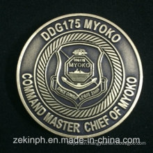 Professional Custom Made Metal Antique Gold Coin