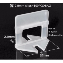 2mm White Flat Clip for Tile Leveling System