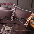 color striped Luxury Hotel Bedding Set 100% cotton