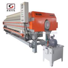 Zhejiang Auto X1500 membrana cámara PP filtro de prensa