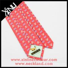 Cheap Silk Ties with Tipping Custom Logo Print Silk Ties