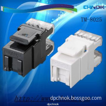 High performance CAT6 RJ45 Data Modular Jack Connector 180 degree