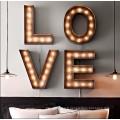 Finition Antique Shop Sign Letterts avec Frontlit LED