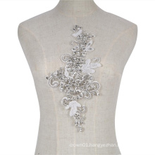 New collection fashional crystal and rhinestone sew on patch applique RM357