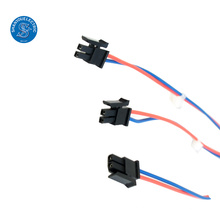 molex te 2pin montagem do chicote de fios do conector fêmea