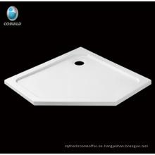 Plato de ducha de fibra de vidrio acrílico irregular
