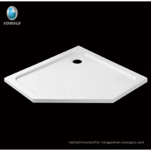 Irregular acrylic fiberglass shower tray