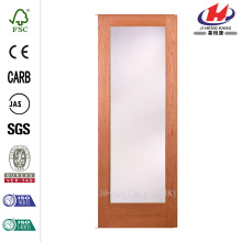 Solid Wood Bathroom Metal Frame Interior Sliding Door