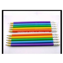 Lápis mecânico de plástico não afiado com tampa de borracha