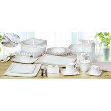 TY Haipai Haiyi shape fashionable simple designed porcelain dinner plate set