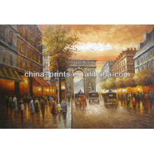 Pintura de la calle del aceite de París de la venta caliente