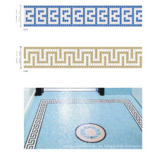Frontera para el azul de la piscina