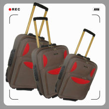 Cheap and Fashion Shandong Silk Aluminum Trolley Luggage