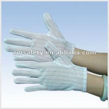 Полосатый Безворсовой ESD чистой комнаты перчатку ZMR356