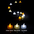 Nonflammable bateri dikendalikan LED tealight lilin