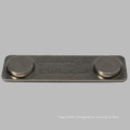 Cheap Rectangle Name Badge with Steel Plate