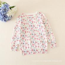 suéter floral de las muchachas del suéter / de los niños de las niñas para el otoño del invierno