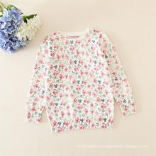 девочки свитер/дети девушки цветочные свитер для зима осень