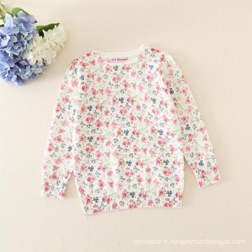 bébé filles chandail / enfants filles floral pull pour l'hiver l'automne