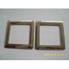 Anillo elegent del metal de la alta calidad / anillo decorativo y anillo cuadrado para el bolso de mano para la venta