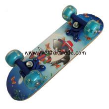 Mini Skateboard with PVC Flashing Wheel (YV-1705B)
