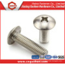 Ss316 Ss304 Cross Recessed Mushroom Head Machine Screws