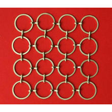 Golden Metal Wire Ring Mesh