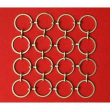 Golden Metal Wire Ring Mesh