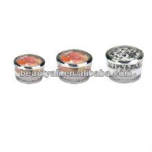 5g 10g 15g 30g 50g 100g embalaje de acrílico cónico del tarro