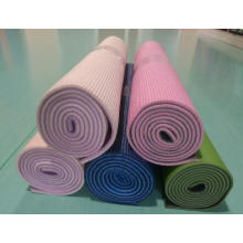 PVC double color fitness mat