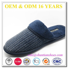 New fashion super warm comfortable mens terry slippers from china