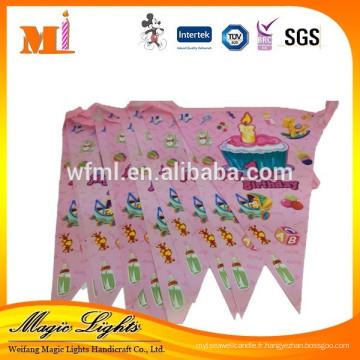 Drapeaux et fanions pour la décoration de fête d'anniversaire