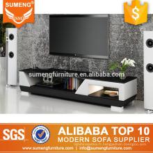 Conception de style européen de luxe haute qualité en acier inoxydable jambes meuble TV avec lumière led