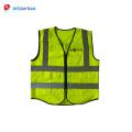 Hohe Qualität Sicherheit Kleidung Verkehrssicherheit reflektierende Weste mit ID-Tasche