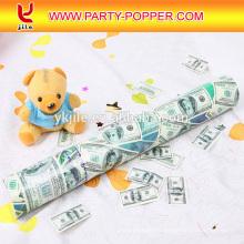 Poppers populares del último partido 2016 con confeti del dólar