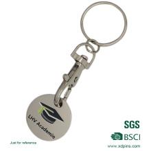 Benutzerdefinierte gestempelt weichen Emaille Trolley Münze Schlüsselanhänger